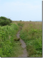Beach side walk, Rhode Island